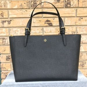 NWT | TORY BURCH | Emerson Buckle Large Black Tote